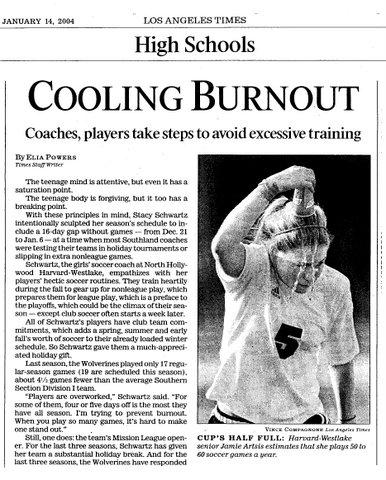 LA Times - Cooling Burnout